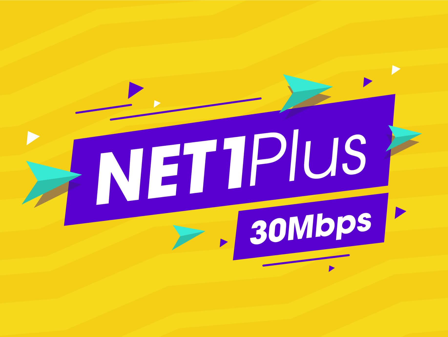 Net 1 plus 30 Mbps