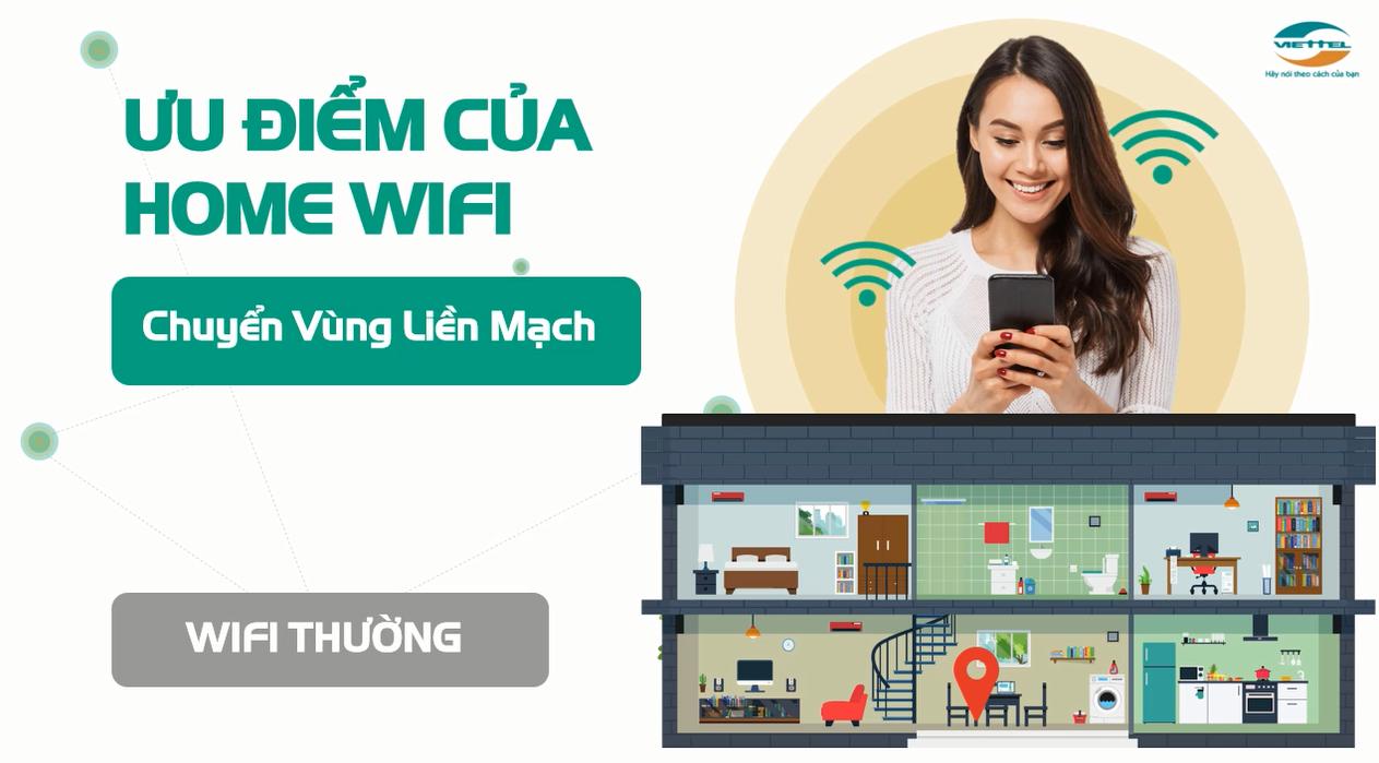 Ưu điểm của Home Wifi Viettel chuyển vùng liền mạch