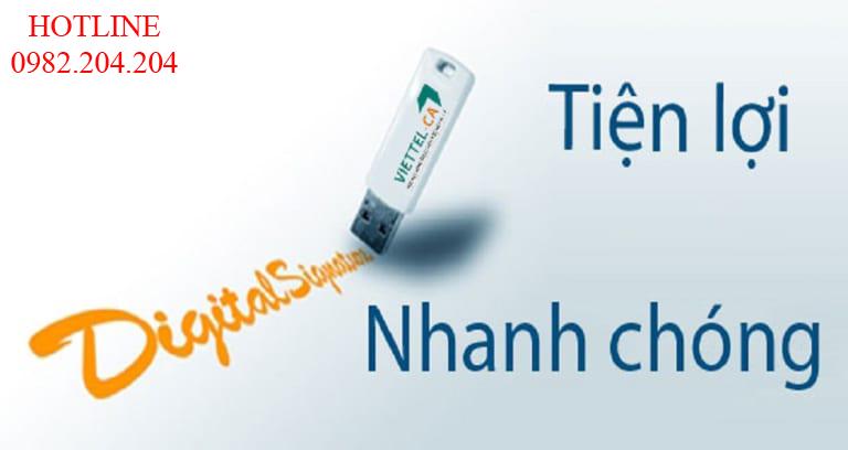 Chữ ký số Viettel ký với USB Token