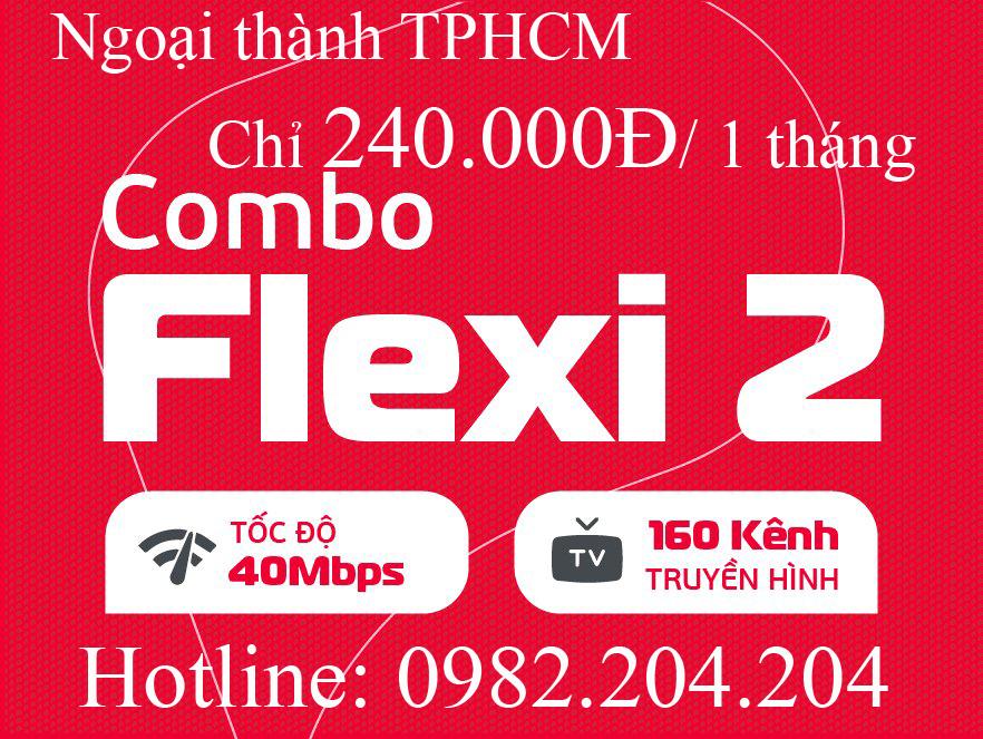 Giá mạng Viettel combo flexi 2 ngoại thành Hà Nội TPHCM 40 Mbps