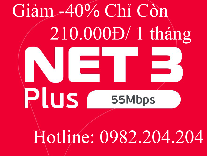 Gói cước internet Viettel 2021 Net 3 Plus