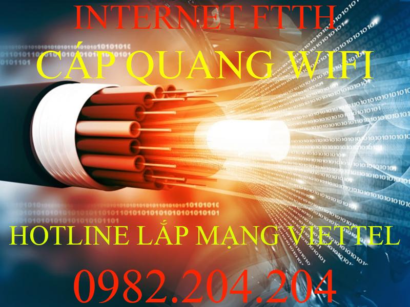 Internet FTTH cáp quang Viettel siêu tốc độ