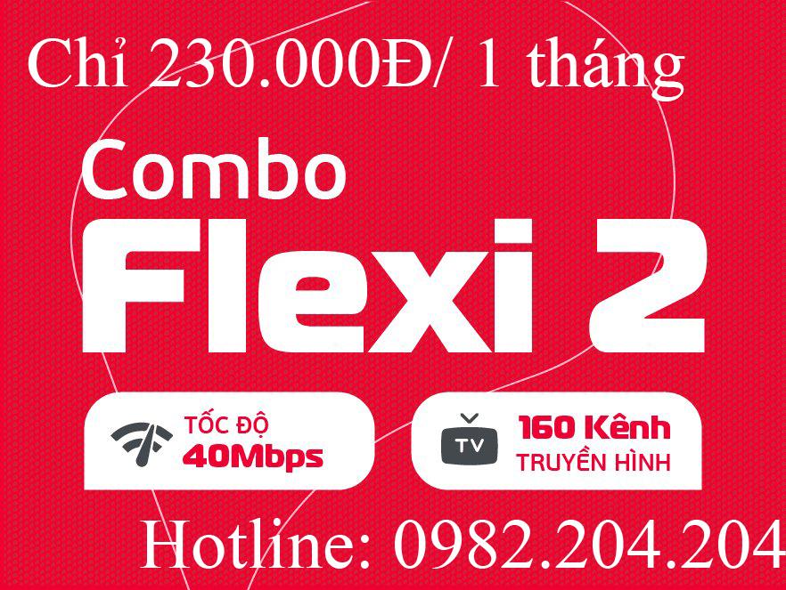 Lắp mạng Viettel combo flexi 2 kèm truyền hình tại tỉnh