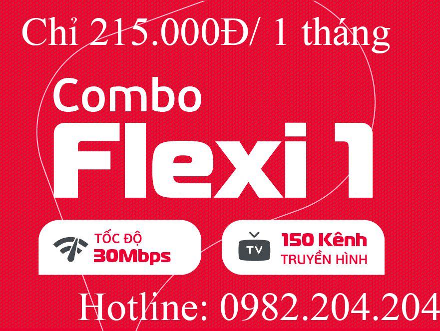 Lắp wifi Viettel combo flexi 1 kèm truyền hình tại tỉnh