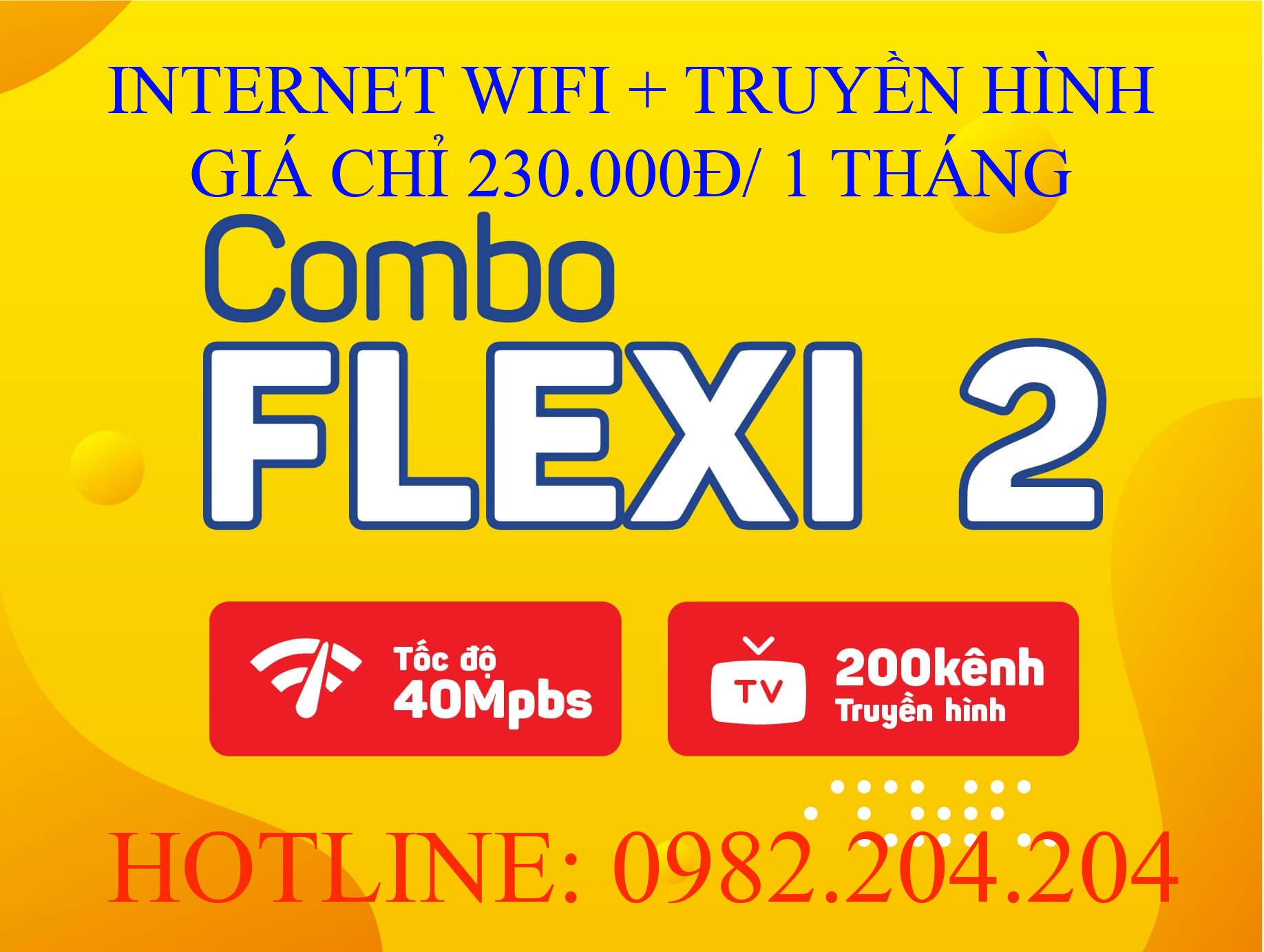 Tổng Đài Lắp Đặt Mạng Internet Cáp Quang Wifi Viettel cung cấp gói combo flexi 2