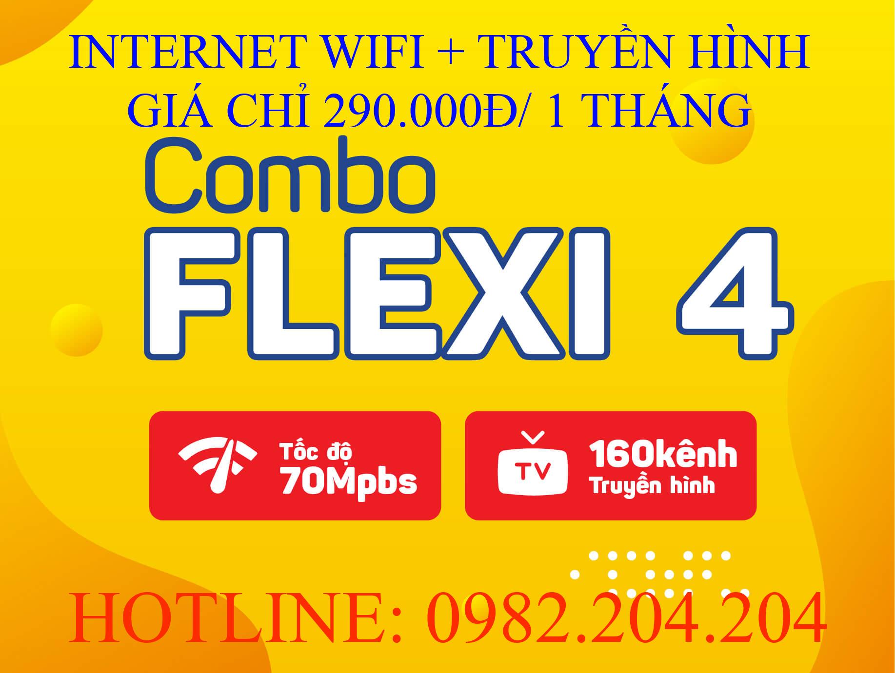 Tổng đài đăng ký internet Viettel cung cấp gói combo flexi 4.