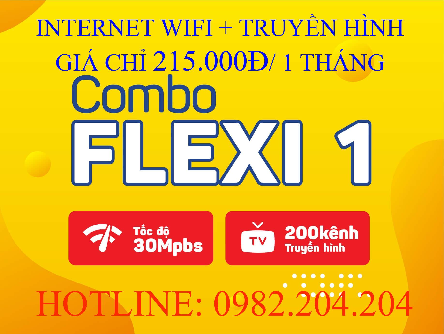 Tổng đài lắp cáp quang Viettel 0982204204 cung cấp combo flexi 1