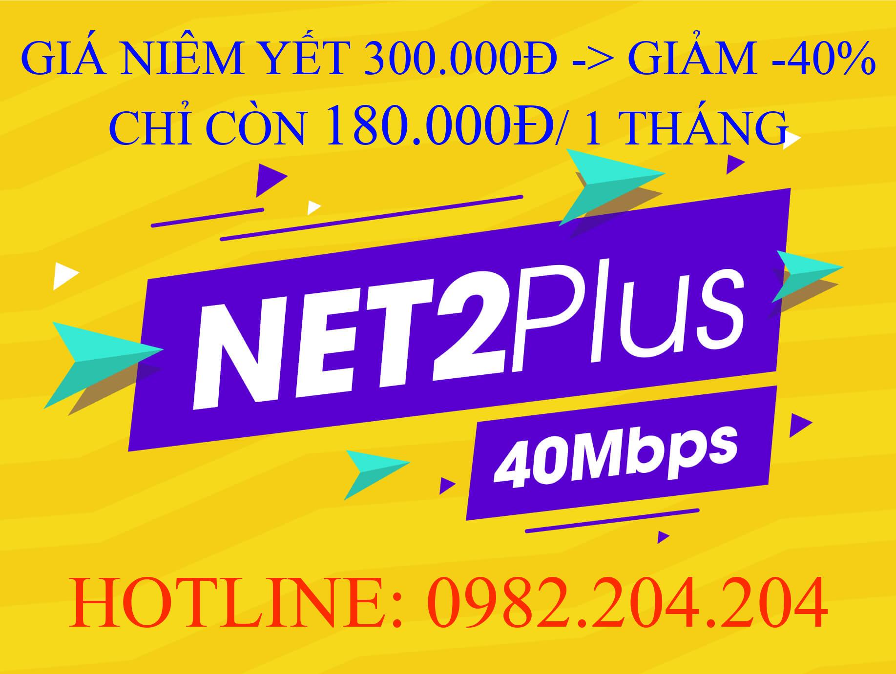 Tổng đài lắp wifi Viettel 0982204204 cung cấp gói Net 2 plus