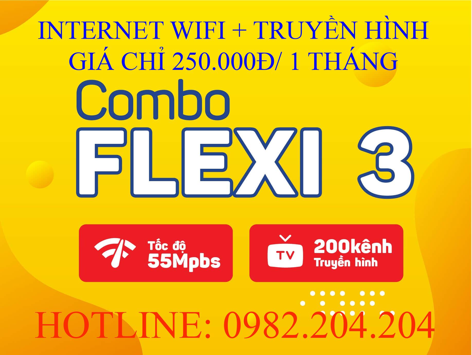 Tổng đài lắp wifi Viettel cung cấp gói combo flexi 3