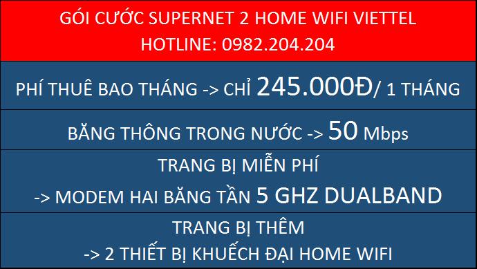 Chi tiết gói cước Supenet 2 Home Wifi