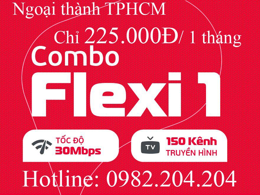 21.Đăng ký internet Viettel gói combo Net 1 kèm truyền hình tại ngoại thành TPHCM và Hà Nội phí 225.000Đ 1 tháng