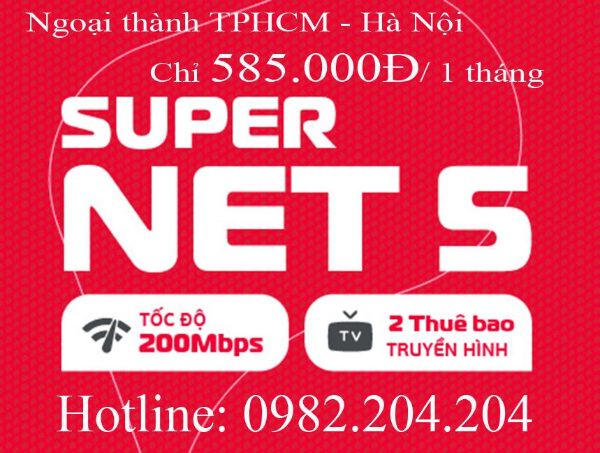 32.Lắp cáp quang Viettel gói Home wifi supernet 5 ngoại thành TPHCM và Hà Nội phí 585.000Đ 1 tháng