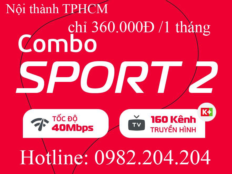 39.Đăng ký mạng Viettel gói combo sport 2 tại nội thành Hà Nội và TPHCM giá thuê bao tháng 360.000Đ