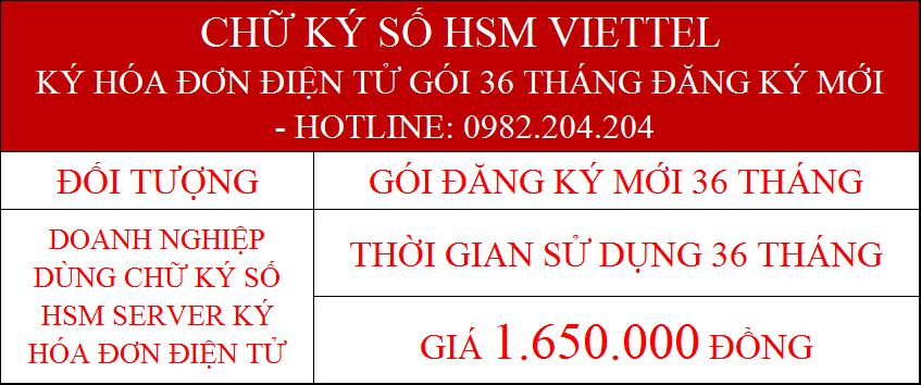 9.Chữ ký số server giá rẻ chỉ ký hóa đơn điện tử gói 36 tháng cấp mới phí 1.650.000Đ