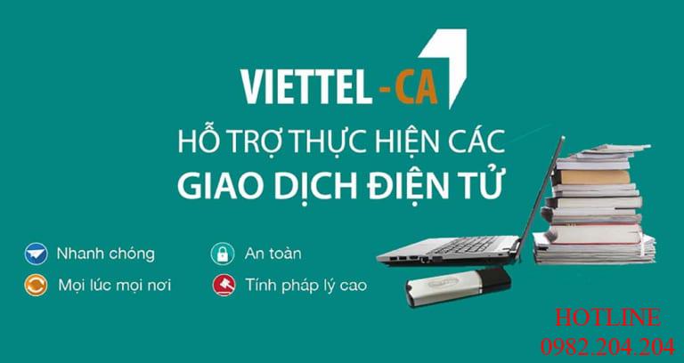 Dịch vụ chứng thực chữ ký số giá rẻ Viettel Top 1 thị trường
