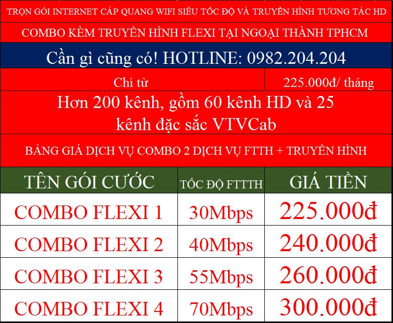 bảng giá đăng ký internet Viettel combo truyền hình ngoại thành TPHCM Hà Nội