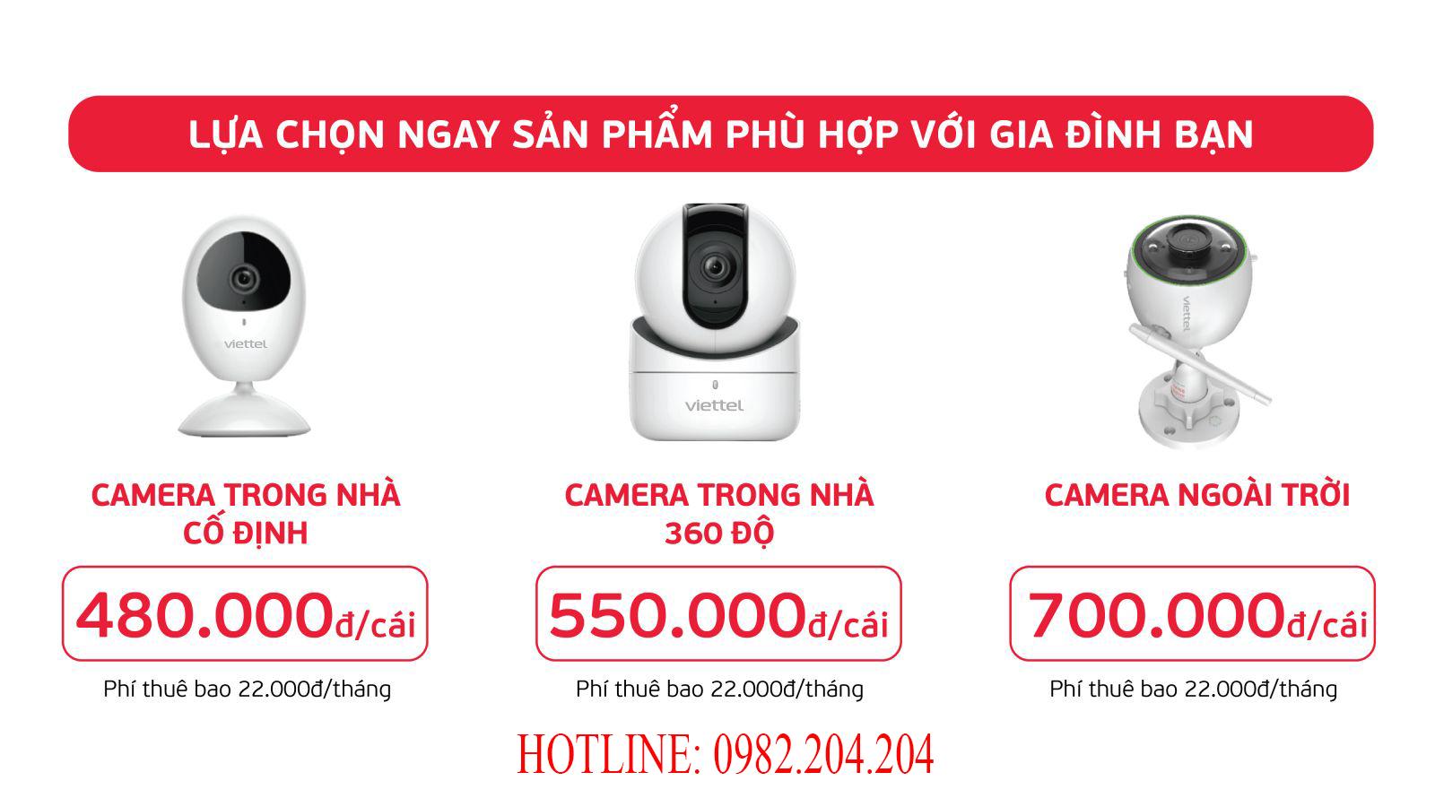 Bảng giá Camera Viettel