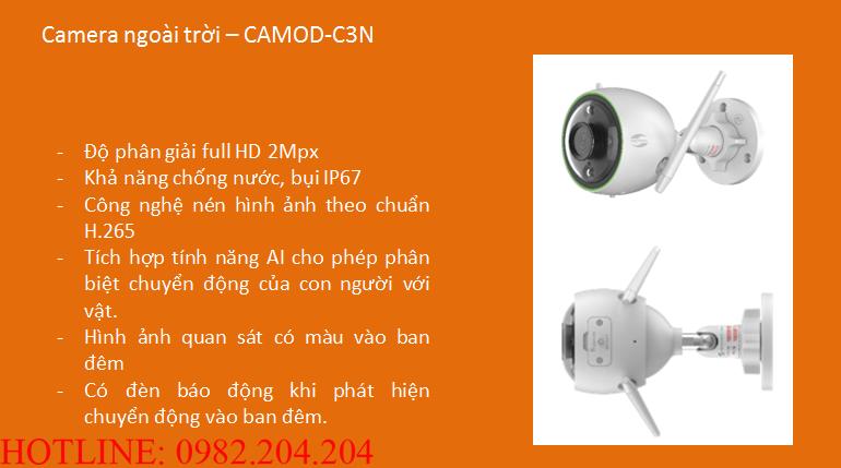 Thông số và tính năng camera Wifi Viettel CAMOD-C3N