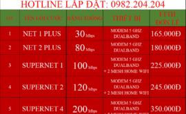 Các Gói Cước Lắp Mạng Internet Cáp Quang Wifi Viettel Thuận An Bình Dương 2021