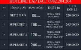 Bảng Giá Lắp Đặt Mạng Internet FTTH Cáp Quang Wifi Viettel Quận 10 TPHCM 2021