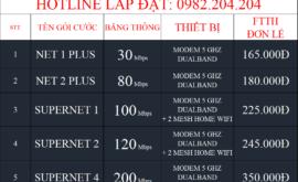 Bảng Giá Các Gói Cước Lắp Mạng Internet FTTH Cáp Quang Wifi Viettel Tây Ninh 2021