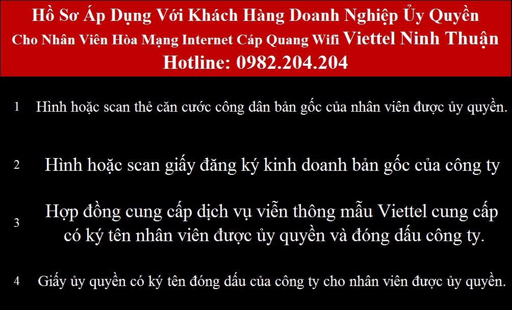 Đăng ký cáp quang Viettel Ninh Thuận