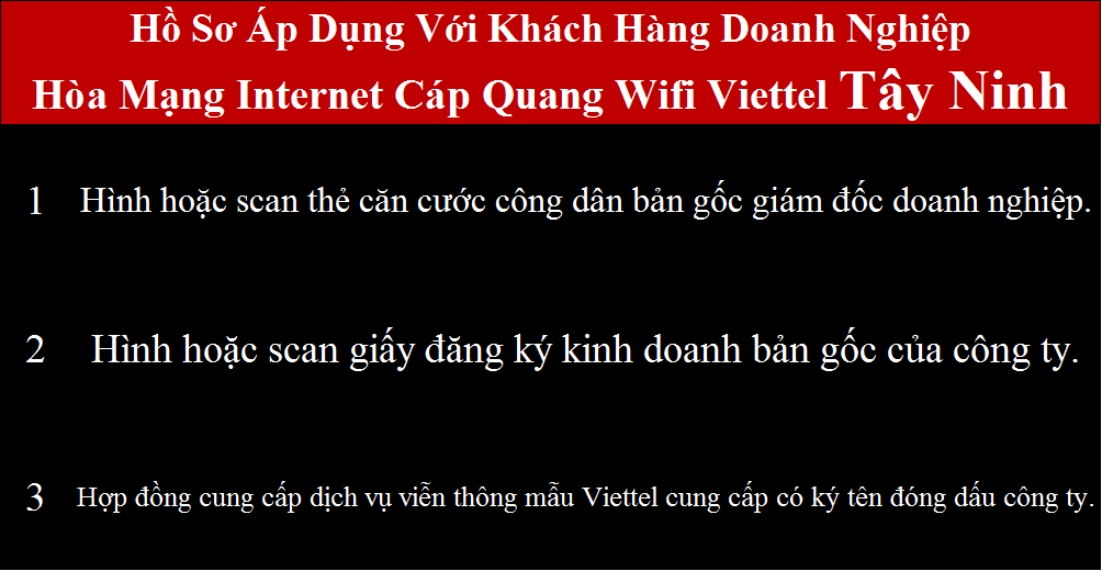 Đăng ký cáp quang Viettel Gò Dầu Tây Ninh