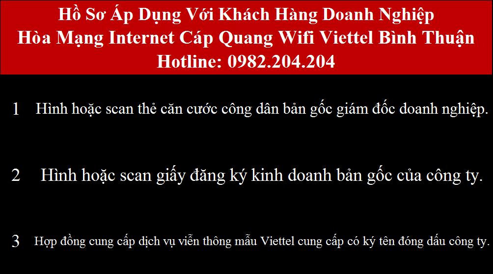 Đăng ký internet Viettel Bình Thuận