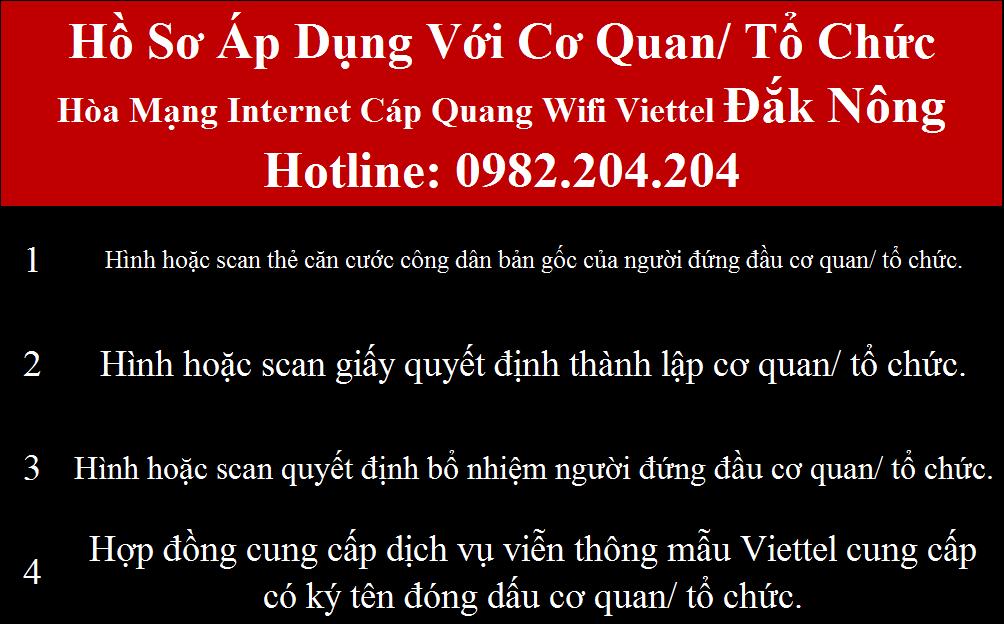 Đăng ký internet Viettel Đắk Nông