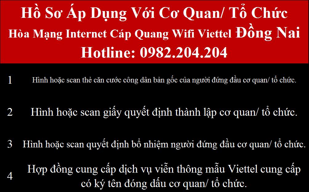 Đăng ký internet Viettel Đồng Nai