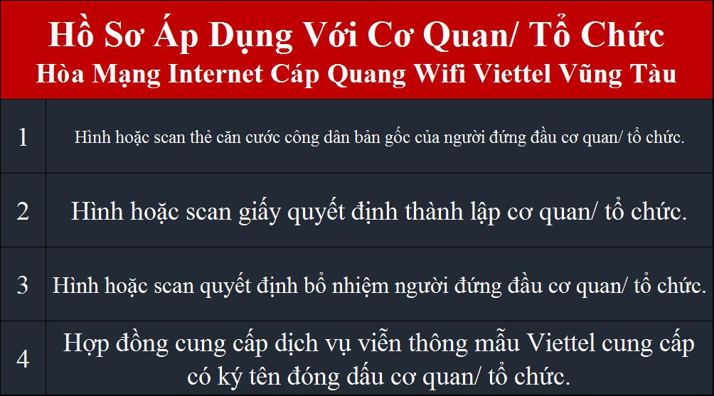 Đăng ký internet Viettel Vũng Tàu Cơ Quan