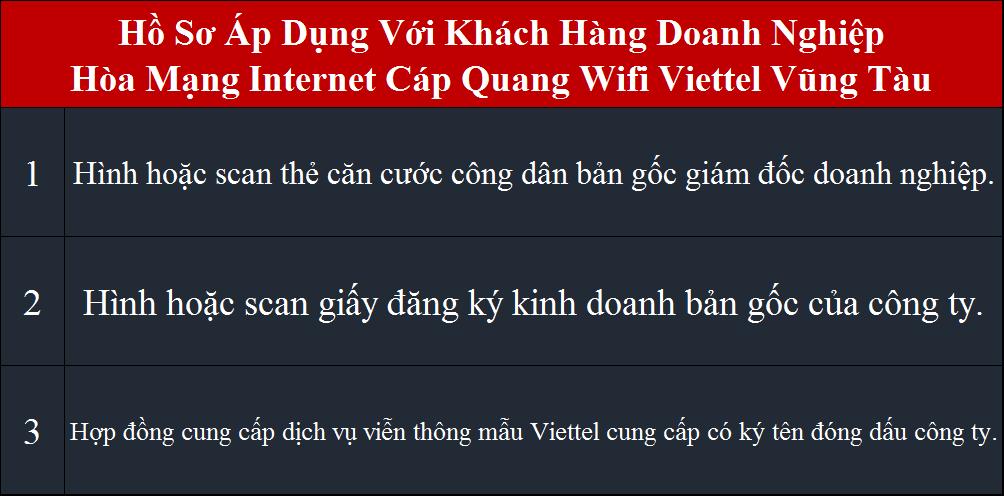 Đăng ký mạng Viettel Vũng Tàu Doanh nghiệp