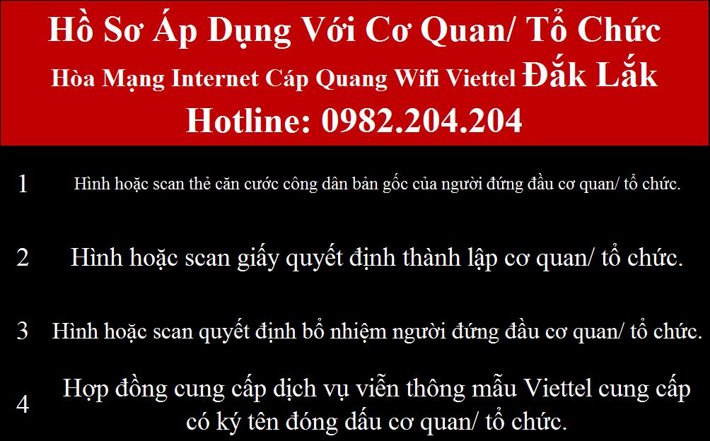 Đăng ký wifi Viettel Đắk Lắk