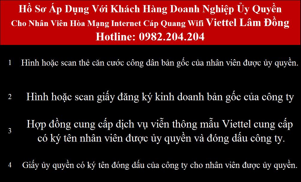 Đăng ký wifi Viettel Lâm Đồng