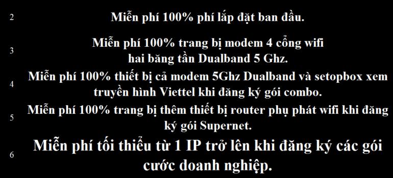 Khuyến Mãi Đăng Ký Lắp Đặt Mạng Internet Cáp Quang Wifi Viettel Quảng Ngãi 2021