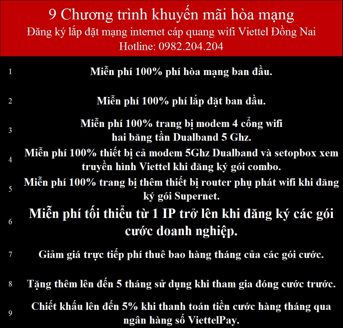 Khuyến Mãi Lắp Mạng Internet Cáp Quang Wifi Viettel Đồng Nai 2021 Mới