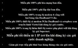 Khuyến Mãi Lắp Mạng Internet FTTH Cáp Quang Wifi Viettel Bình Định 2021