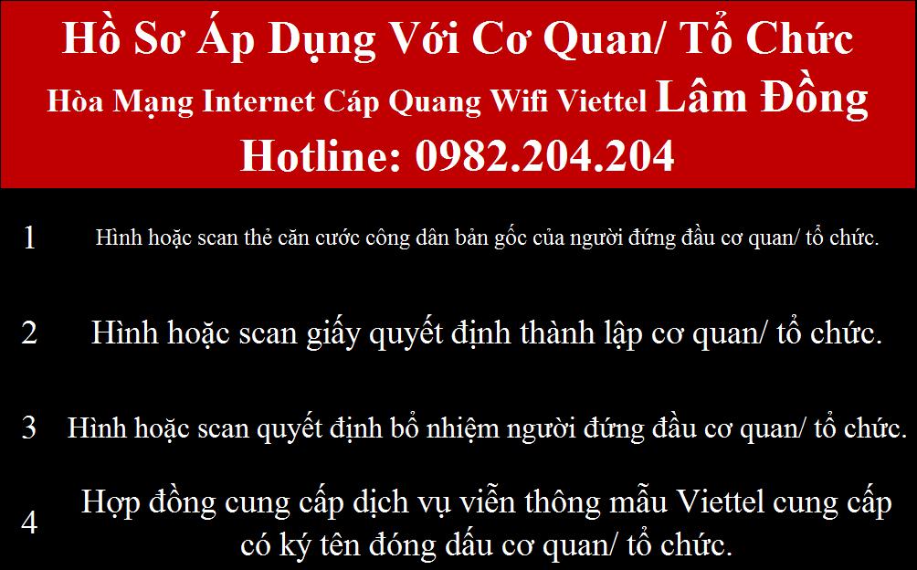 Lắp cáp quang Viettel Lâm Đồng