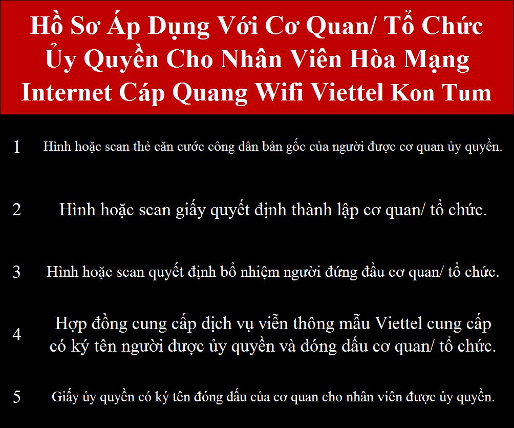 Lắp internet Viettel Kon Tum