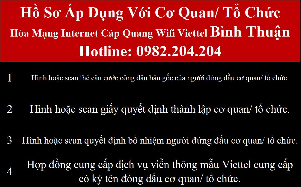 Lắp mạng Viettel Bình Thuận
