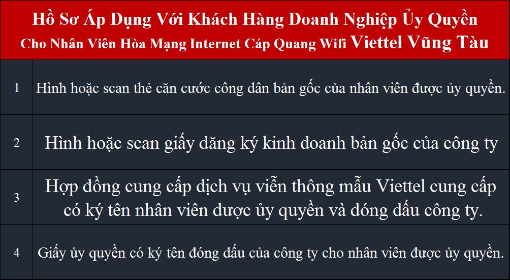 Lắp wifi Viettel Vũng Tàu Doanh nghiệp ủy quyền